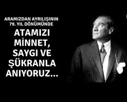 Büyük Önder Mustafa Kemal Atatürkü saygıyla anıyoruz