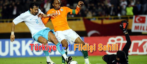 '2010 Dünya Kupası Avrupa Elemeleri 5. Grup'da mücadele eden A Milli Takımımız, hazırlık maçında Fildişi Sahili ile 1-1 berabere kaldı. İzmir Atatürk Stadı'nda oynanan karşılaşmada Milli Takımımızın golünü 11. dakikada Gökhan Ünal kaydederken, Fildişi Sahili'nin golünü 90+2. dakikada Didier Drogba attı.'