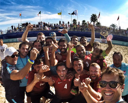 Beach Soccer National Team are the champions of League B