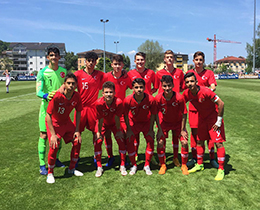 U15s lost against Switzerland: 4-1
