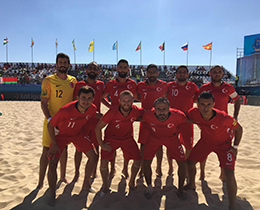Beach Soccer National Team beat Ukraine: 3-1