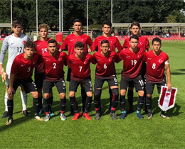 U16s lost against England: 2-1