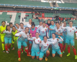 Womens U17s beat Estonia: 4-0
