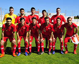 U19s draw with Greek Cypriot State: 2-2