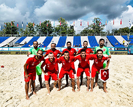 Beach Soccer National Team lost against Belarus: 6-3